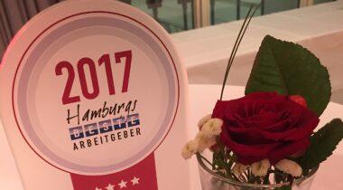 Foto Siegel Bester Arbeitgeber 2017